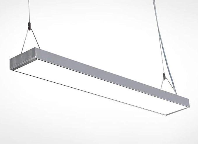 Plafoniere Ufficio Led : Ccyyjj ufficio lampadario striscia di led lampada semplice moderno