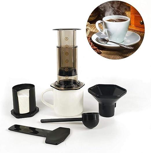 LYHONG 350Ml Filtro De Vidrio Espresso Cafetera Cafetera PortáTil ...