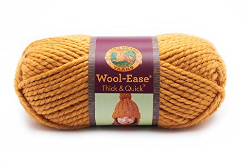 Yarn Mustard - Lion  640-158 Wool-Ease Thick & Quick Yarn , 97 Meters, Mustard