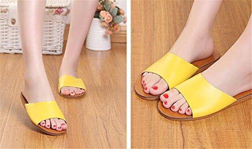 Women Chaussons pour Yellow TELLW Femme OvW8UUZq