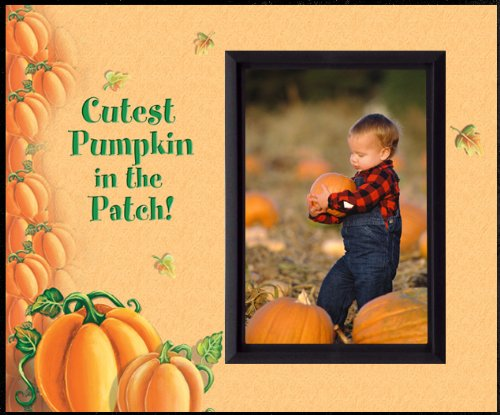 Baby North West Halloween Costume (Cutest Pumpkin in the Patch Blk - Halloween Picture Frame Gift)