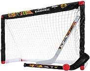 Franklin Sports NHL Chicago Blackhawks Mini Hockey Goal, Stick and Ball Set
