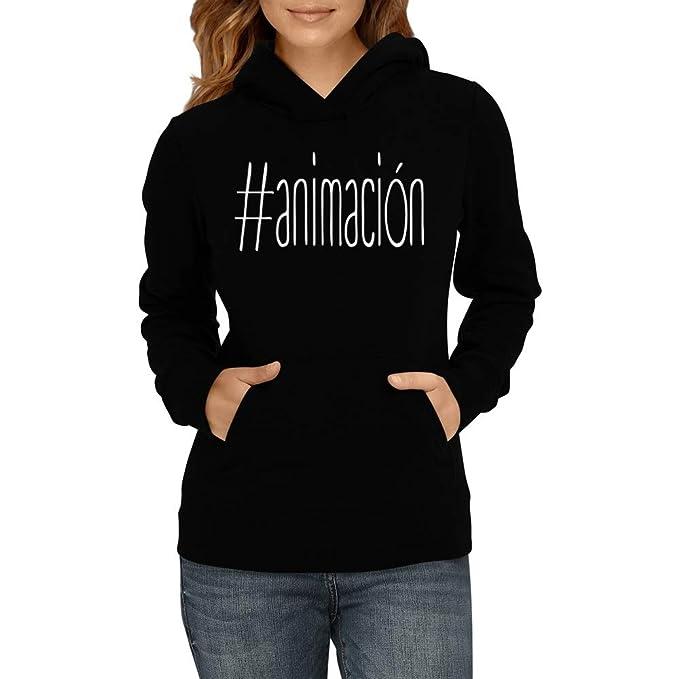 Idakoos Animación Hashtag - Sudadera con Capucha para Mujer: Amazon.es: Ropa y accesorios