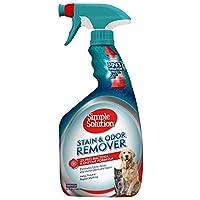 Solución simple para mascotas, removedor de manchas y olores | Limpiador enzimático con 2X Pro-Bacteria Cleaning Power | 32 onzas