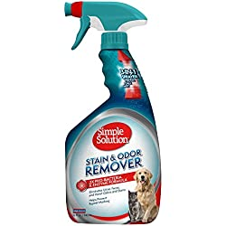 Simple Solution Pet Stain and Odor Remover   Enzymatic Cleaner with 2X Pro-Bacteria Cleaning Power   32 Ounces