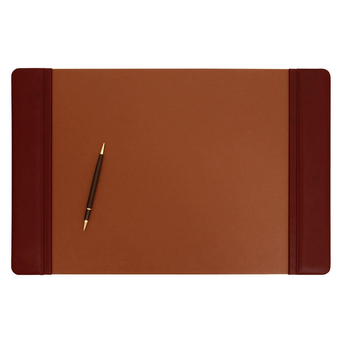 Dacasso Leather Side-Rail Desk Pad, Mocha, 22 x 14-Inch P3028