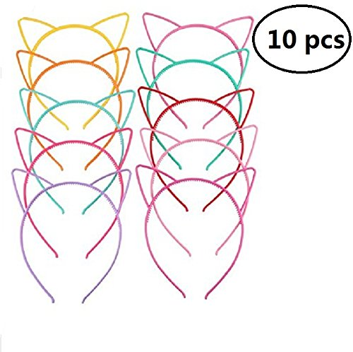 Cherry Costume Headband (EBTOYS Cat Ears Headband Plastic DIY Hair Bands Headbands Headwears for Daily and Party Favors Costume)