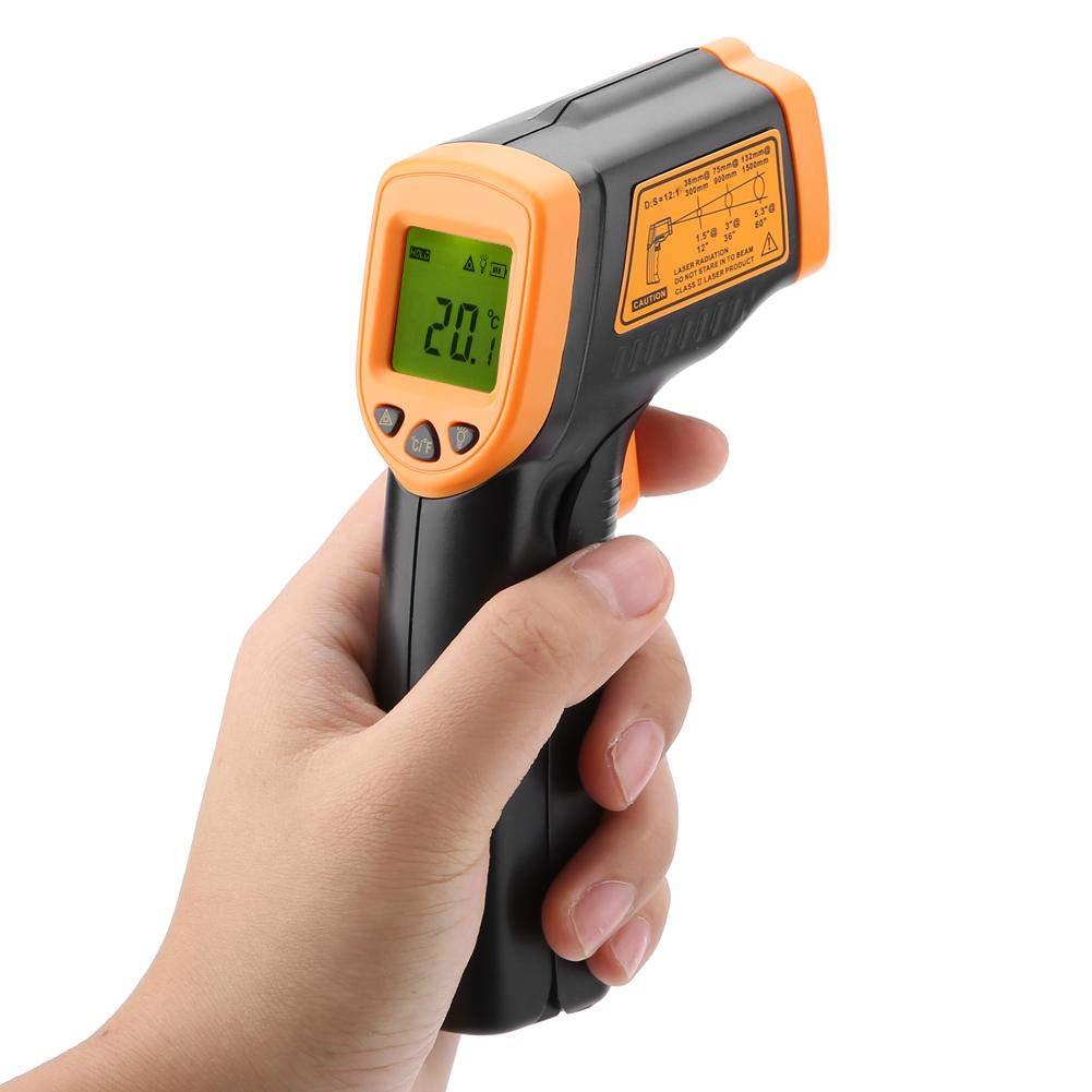 AR320 Ber/ührungsloses LCD-Display L-aser Digitales Infrarotthermometer 32 ℃ ~ 380 ℃ Ein-Knopf-Tester 0,5 s Schnelle Reaktionstemperatur Handwerkzeug Fydun Digitales Infrarot Thermometer