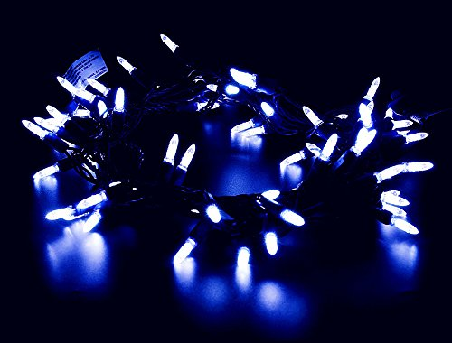 Blue Led Icicle Xmas Lights - 9