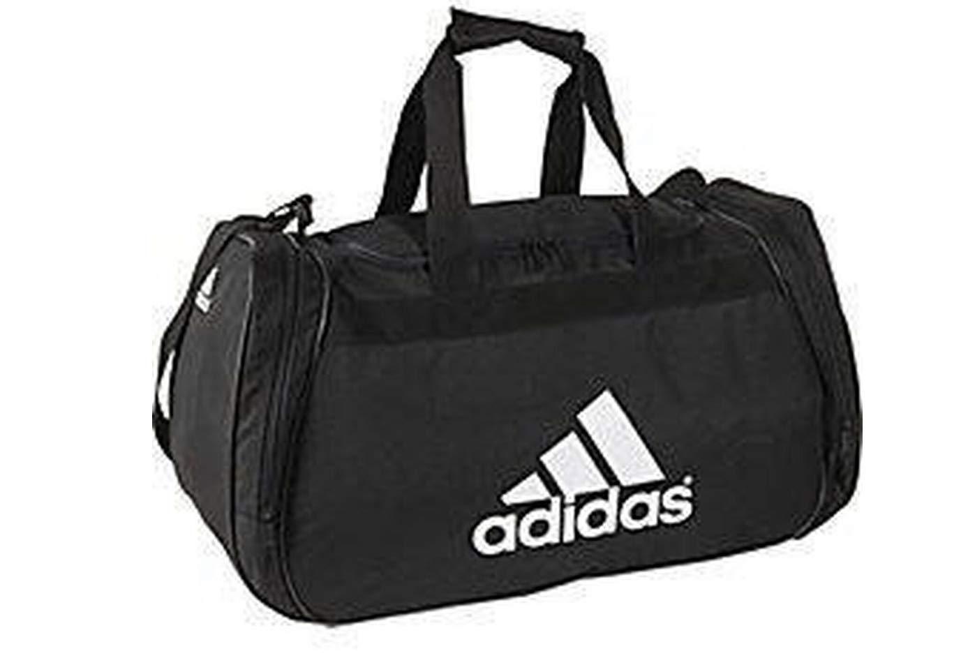 11abdfe92a Amazon.com | Adidas Diablo Medium II Dufflel Bag (One_Size, Black  (5128427-B161) / White) | Travel Duffels