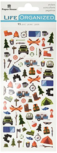 Outdoor Scrapbooking - Paper House Productions Outdoors Stickers 3, 3-Pack, Micro
