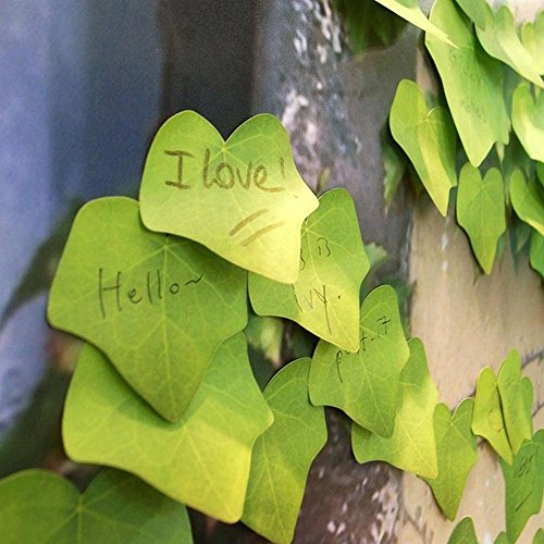 ARCTURUSCute Simulation Green Leaf Sticky Note Memo Sticker Post It Bookmark - Typewriter Shop Uk