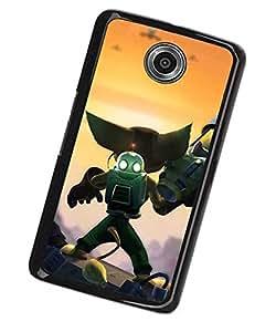 Motorola Nexus 6 Mirror SurfaceFunda Ratchet & Clank Cute Unique Anti Slip Antigolpes ECO-Friendly Material Case Cover