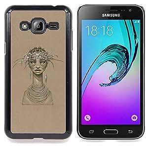 SKCASE Center / Funda Carcasa protectora - Mujer Africana;;;;;;;; - Samsung Galaxy J3 GSM-J300
