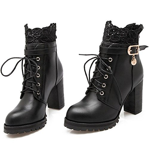 KemeKiss Fashion Zipper Boots Back Black Women ZgSWZpr7