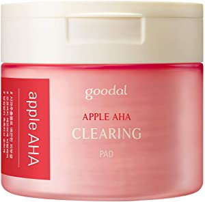 Goodal Apple AHA Clearing Toner Pads for Sensitive Skin | Natural, Gentle Peeling, Exfoliating, Toning, Pore-Tightening, Clearing (70 Pads)