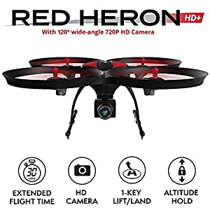 Force1 U49C Drone with Camera for Beginners – HD Beginner Drone Quadcopter w/ Altitude Hold, 15-min Long Flight Time & Extra Battery - 720P RC Camera Drones for Kids and Adults from UDI