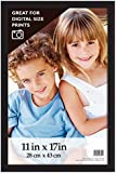 MCS Gallery Wood Wall Frame, 11 by 17-Inch, Black