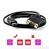 XF TIMES HDMI to VGA Gold Plated Active Video Adapter cable 1080P HDMI Digital to VGA Analog Converter cable (6 Feet/ 1.8 Meters)