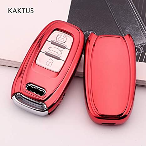 Keyless Version KAKTUS Autoschl/üssel Schutzh/ülle f/ür Audi 3 Tasten Schl/üssel