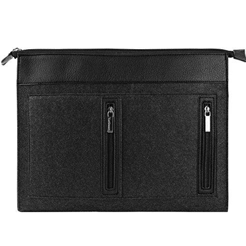Shockproof computer bag laptop messenger handbag 15.6'''' black - 6