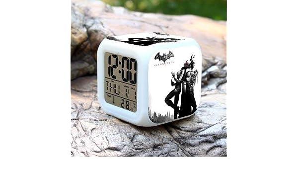 Amazon.com: HOKUGA: New Cartoon Batman Kids Alarm Clock wekker Digital Alarm Clock Toys led reloj despertador Wake up Light reveil Table Desk Clock: Office ...