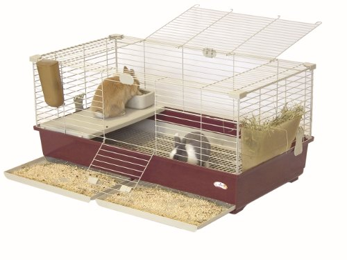 Marchioro Tommy 102 Deluxe Cage for Small Animals, 39.25 inches, Wine Beige by Marchioro