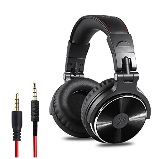 OneOdio-Adapter-Free-Closed-Back-Over-Ear-DJ-Stereo-Monitor-Headphones-Professional-Studio-Monitor-Mixing-Telescopic-Arms-with-Scale-Newest-50mm-Neodymium-Drivers-Glossy-Finsh
