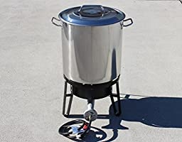 Concord Home Brew Stainless Steel Kettle with Single Burner Stand Set (50 Quart)