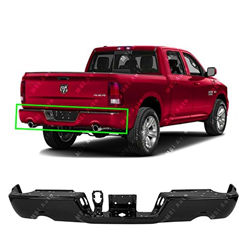 (MBI AUTO - Primered, Steel Rear Bumper Shell Face Bar for 2009-2018 Dodge Ram 1500 09-18, CH1102372)