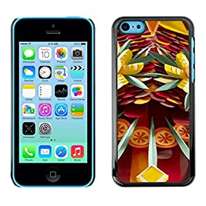 [Neutron-Star] Snap-on Series Teléfono Carcasa Funda Case Caso para iPhone 5C [Arte Dagas Peligro Abstracto Diversión]