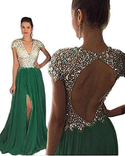 emerald beaded dress - 9