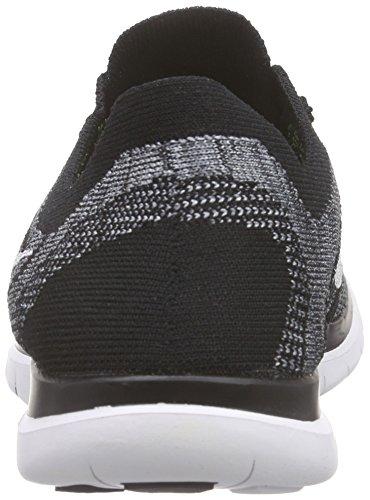 Nike Free 4.0 Flyknit Mens Scarpe Da Corsa Nero / Bianco / Grigio (nero / Bianco-lupo Grigio-grigio Drk)