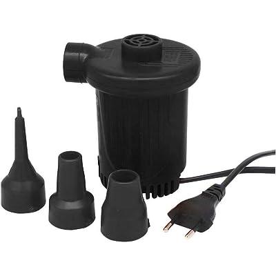 SILVANO Inflador eléctrico Enchufe a la Pared 3 boquillas para inflar colchones, balones, etc. Muy rápidamente 150 W