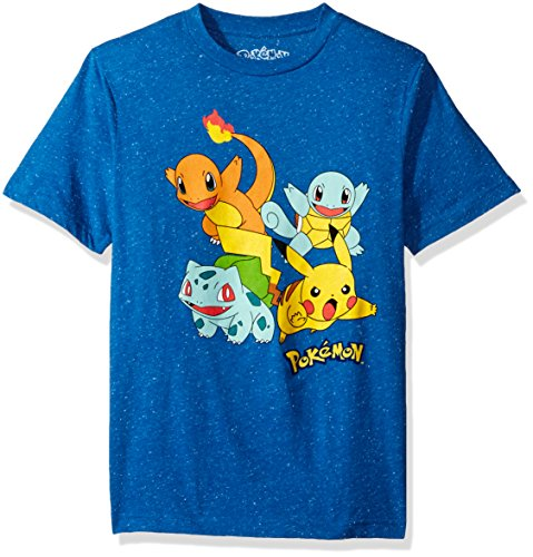 Pokemon Big Boys' Pikachu Pop Burst T-Shirt, Classic - Pokemon Burst