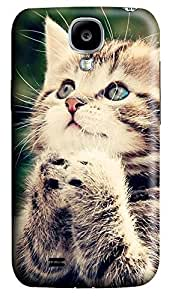 Samsung S4 Case Baby Cat Looking Up 3D Custom Samsung S4 Case Cover