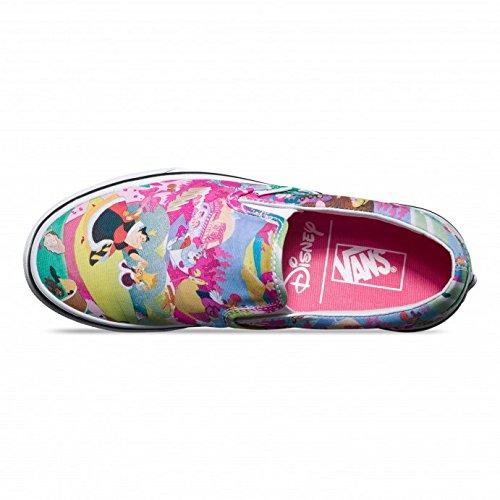 16a5aaa087 Vans Disney Womens Pink Alice in Wonderland Slip On Sneakers  Amazon.ca   Shoes   Handbags