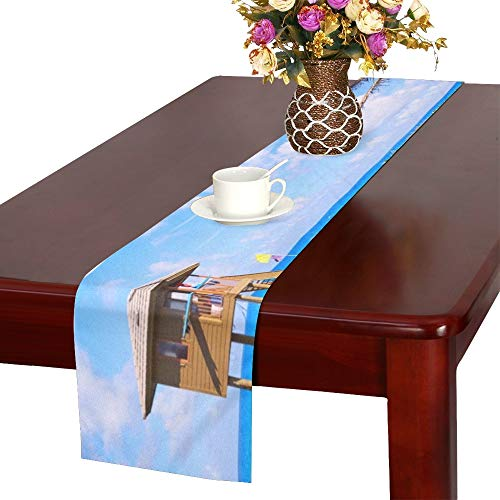 Delray Island - WUTMVING Del Ray Delray Beach Florida USA Table Runner, Kitchen Dining Table Runner 16 X 72 Inch for Dinner Parties, Events, Decor