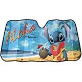 Lilo & Stitch Aloha Hawaiian Beach Disney Auto Car Truck SUV Vehicle Universal-fit Front Windshield Sunshade - Accordion Sun Shade
