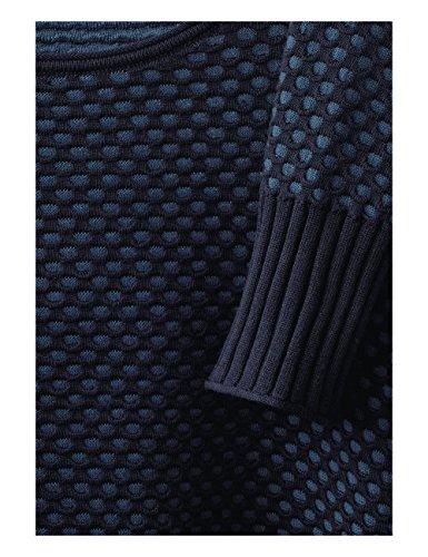 Felpa 20128 Cecil Pullover deep Blue Donna Structure Blau qqfrw0E7