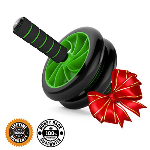 Holiday Sale :: Ab Roller Wheel :: Abs Carver for Abdominal & Stomach Exercise Training :: Fitness Equipment Core Shredding :: Includes 2 Free Instructional E-Books
