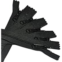 "7"" - 60\"" Long Pull Handbag Zippers YKK #4.5 Color 580 Black (5 Zippers/pack) - Select Length (Length 27 inches)"
