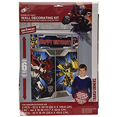 Transformers Scene Setters Wall Decorating Kit, Birthday: Toys & Games