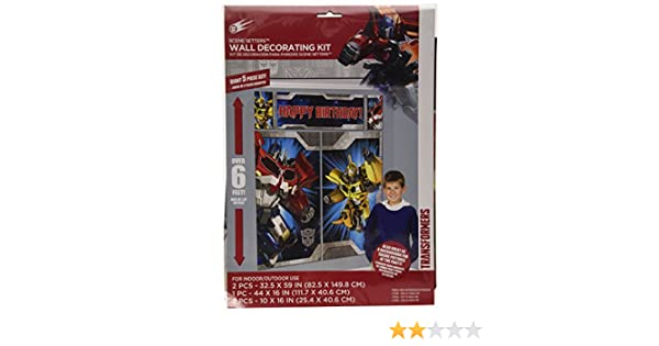 Amscan Amscan Transformers Party Scene Setter Wall Decorating Kit Nove 5pc Set