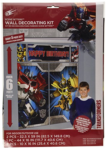 Transformers Scene Setters Wall Decorating Kit, Birthday ()