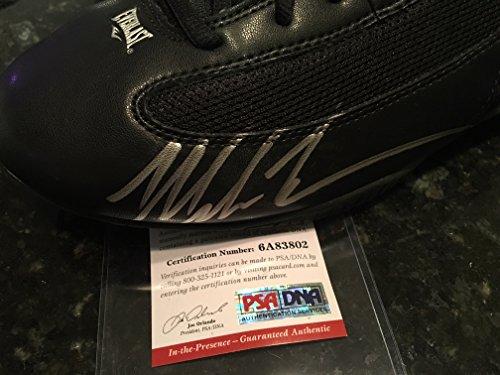 Mike Tyson Signed Everlast Boxing Shoe Sneaker AUTO Autograph Sz 15 PSA/DNA COA ()