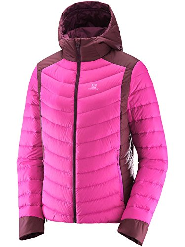 Salomon Womens Halo Down Hooded Jacket, Pink - RRP: 220 GBP rose violet/fig