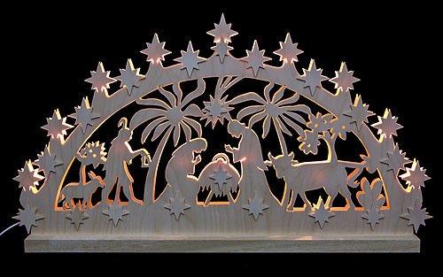 3D-Double-Arch - Nativity Motif - 72x40x5,5 cm / 28x16x2 inches - Michael Müller