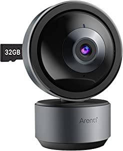 Arenti Indoor Home Security Camera, DOME1 2K Ultra HD WiFi Baby Monitor, Night Vision, 2-Way Audio, Privacy Mode, Works with Alexa & Google Assistant, AI Powered Human Motion & Sound Detection