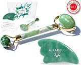 Product review for Premium Jade Roller & Gua Sha Pro Set | 100% Real Jade stone | Anti Aging Skin Care Tools Therapy | Skin Massager for face | Puffy Eyes Bags Chi Roller Treatment | Facial Beauty tool by Green Lotus